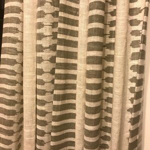 West Elm Accents - West Elm Striped Ikat Curtains Platinum